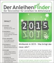 Der Anleihen Finder Dezember 1 2014 Minibonds 2015 – Was bringt das neue Jahr? – Zinsgeschenke zu Weihnachten? - Drei Neuemissionen von PCC – eterna: Wachstum und Schuldenabbau