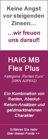 HAIG MB  Flex Plus - Ein Kombination von Renten, Absolut- Return-Ansätzen und geldmarktnahmen Charakter